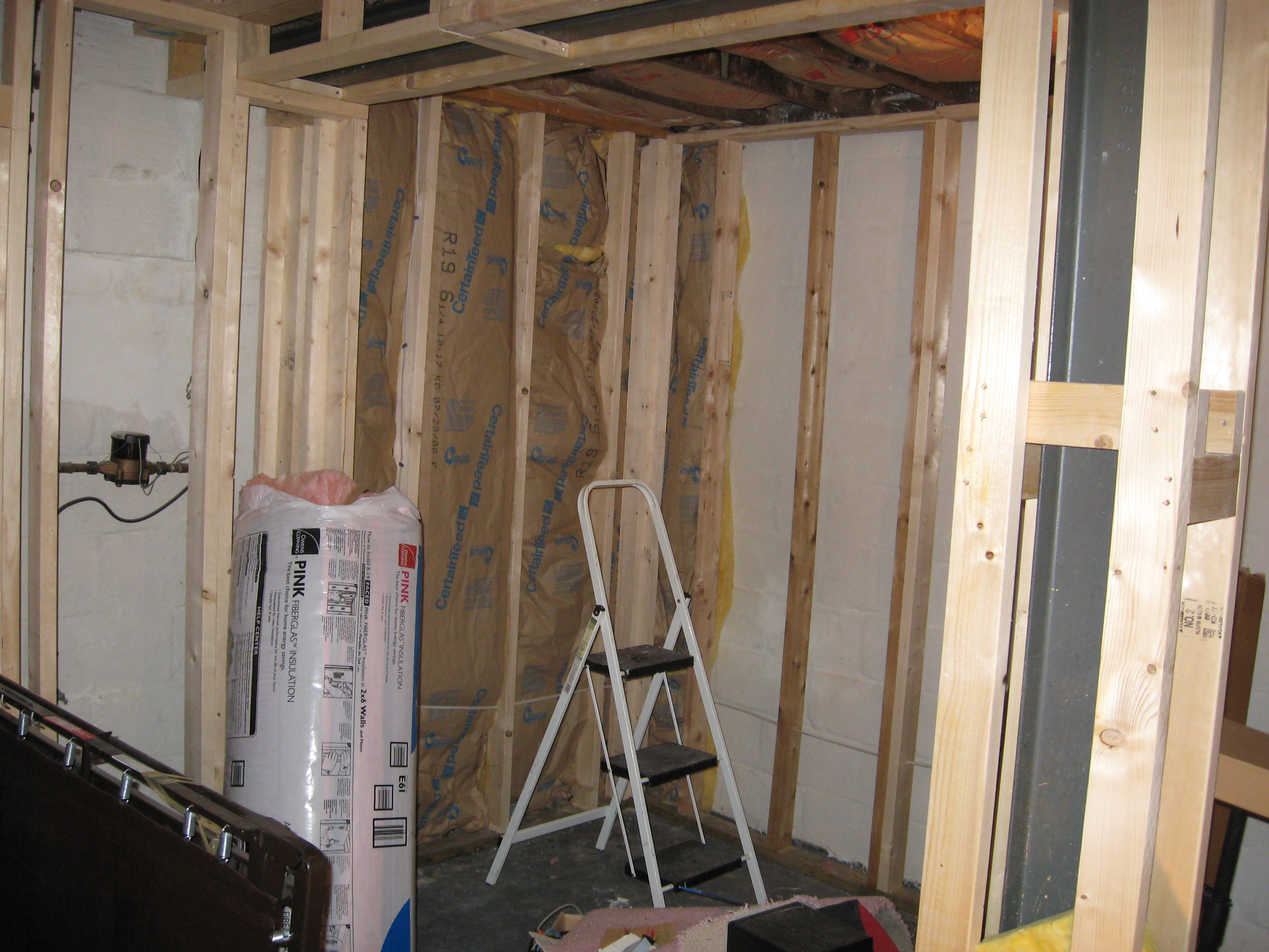Studio Design Musicformedia Creating Music For A Multimedia World Electrical Wiring Basement Walls This Will Be The Front Wall