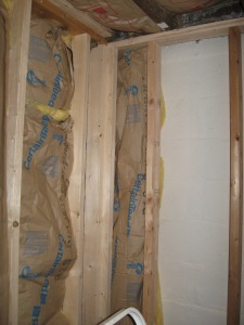I'm also putting insulation between the wall studs.