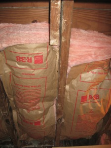 Plenty of ceiling insulation...