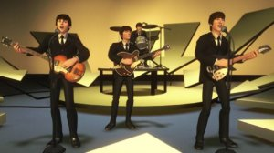The Ed Sullivan scene in Beatles Rockband