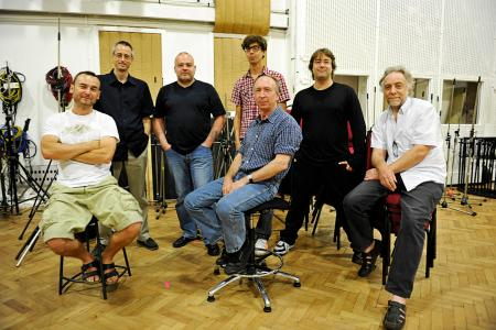 Abbey Road engineers who worked on the Beatles remastering project. Allen Rouse is at right.