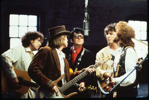 traveling wilburys george harrisonbob dylantom petty orbison jeff lynne line